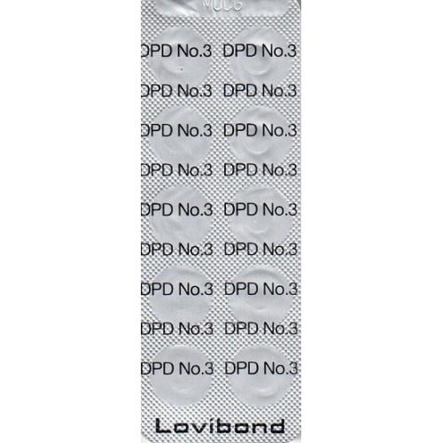 DPD nr. 3 sort, Total klor  500 stk