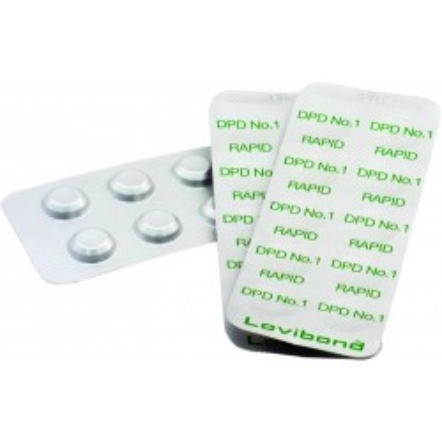 DPD nr. 1 grøn, Rapid, frit klor 500 stk