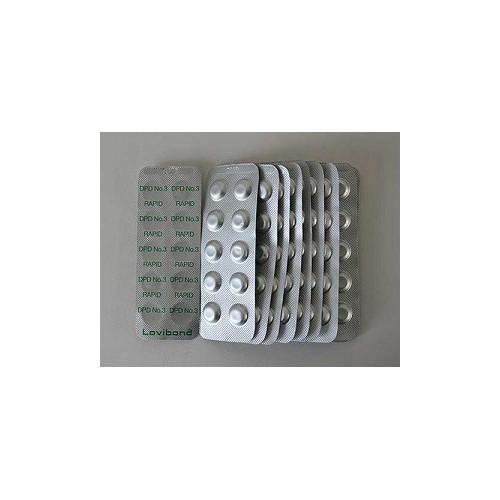 DPD nr. 3 grøn Rapid, total klor  500 stk