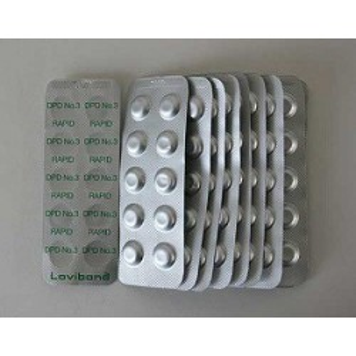 DPD nr. 3 grøn Rapid, total klor  10 stk