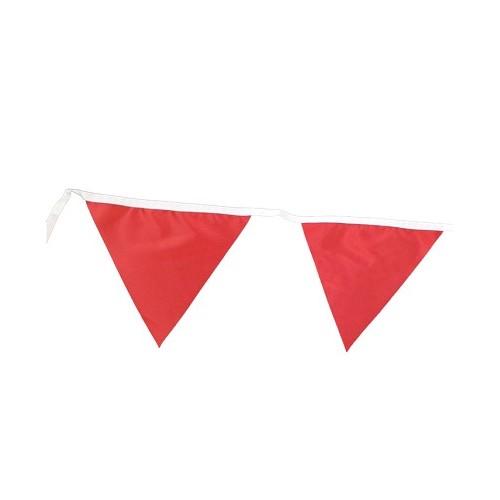 Rød flag i polyester 25 meter