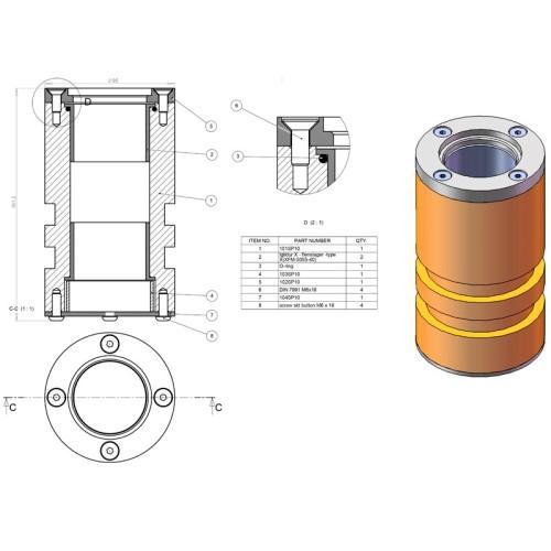Sokkel til handicaplift, 100SP10 (A)
