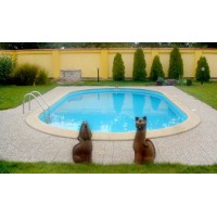 Toscana - Oval pool. 1,2m dyb. 0,8mm liner
