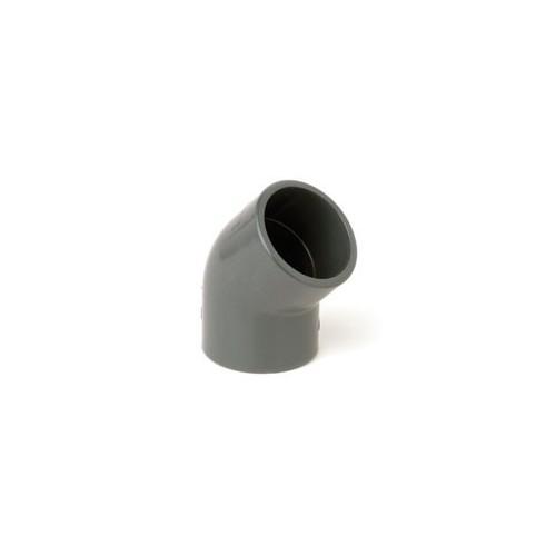 Vinkel 25mm PVC 45grader