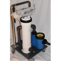 Bottom suction trolley, manual bottom suction