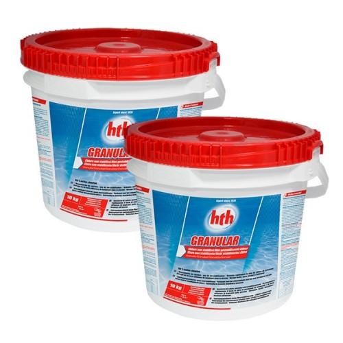HTH - Klor Granulat 2 x 10 kg