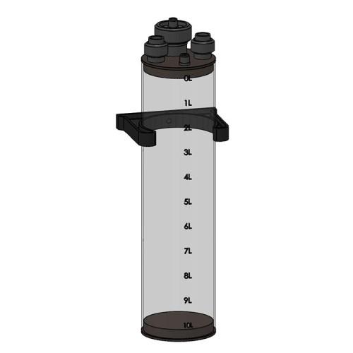Dagtank til vandbehandling PVC med afmålinger